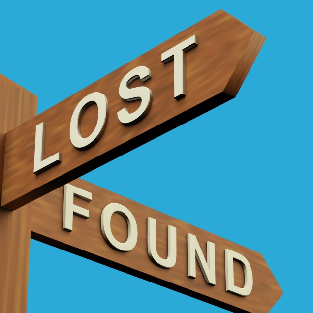 Lost Or Found Directions On A Signpost
