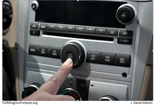 car radio-tagged